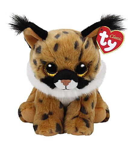 TY Larry lynx classic beanie soft toy 24cm