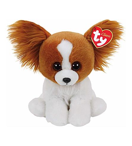 TY Barks dog classic beanie soft toy 24cm