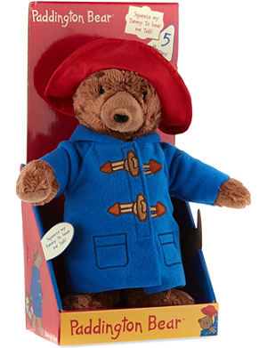 PADDINGTON BEAR Talking Paddington Bear plush toy