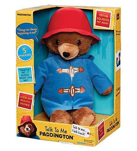 PADDINGTON BEAR Talk To Me Paddington Bear talking toy 40cm