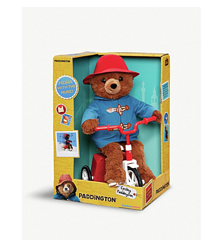 PADDINGTON BEAR Cycling Paddington Bear On A Bike 35cm