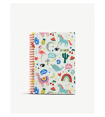 UNICORN UNIVERSE A5 lined paper notebook