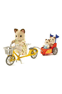 SYLVANIAN FAMILIES Tandem bike and baby trailer
