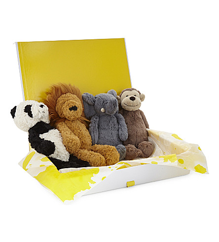 JELLYCAT Animal soft toy hamper