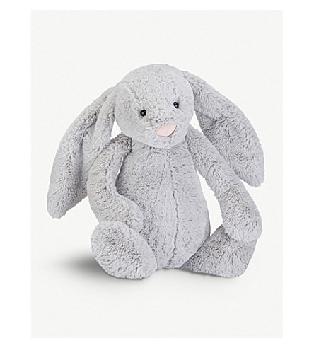 JELLYCAT Bashful plush silver bunny really big