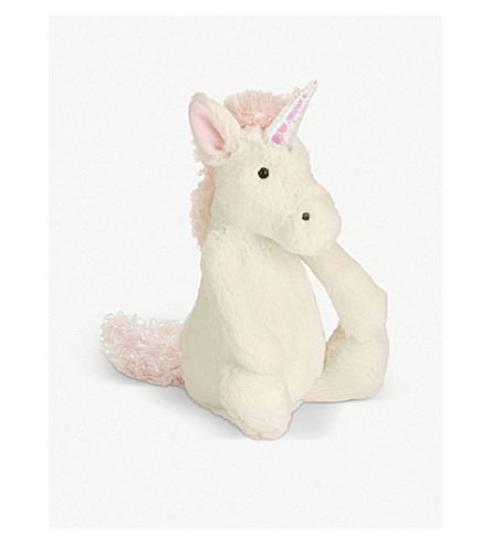 JELLYCAT Bashful unicorn small soft toy 18cm