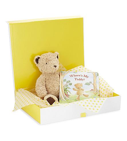 JELLYCAT Edward bear and book hamper