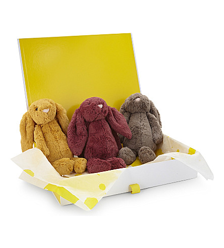 JELLYCAT Bashful Bright Bunny hamper