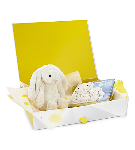 JELLYCAT Bashful bunny and storybook gift hamper