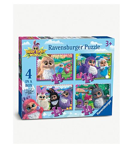 BUSH BABIES Ravensburger Bush Baby World 4-in-a-box jigsaw puzzle