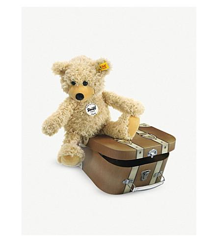 STEIFF 查理在手提箱里晃着泰迪熊