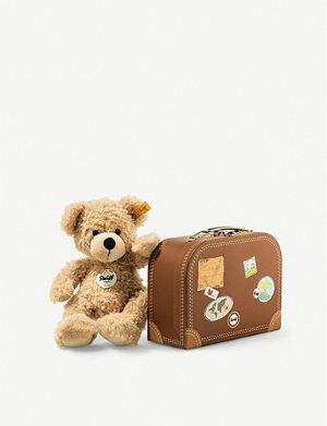 STEIFF Fynn teddy bear in suitcase