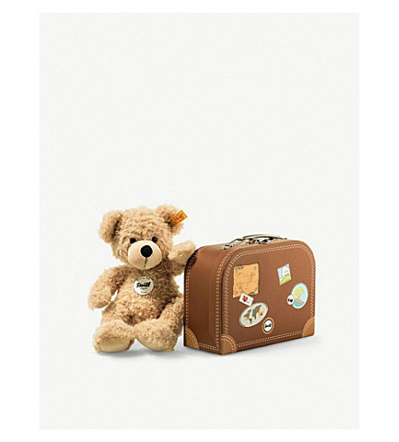 STEIFF Fynn teddy bear in suitcase