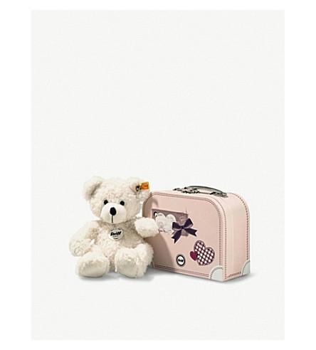 STEIFF Lotte teddy bear and suitcase 28cm