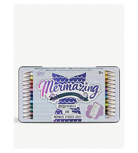 UNICORN UNIVERSE Mermaid 50/50 colouring pencils pack of 12