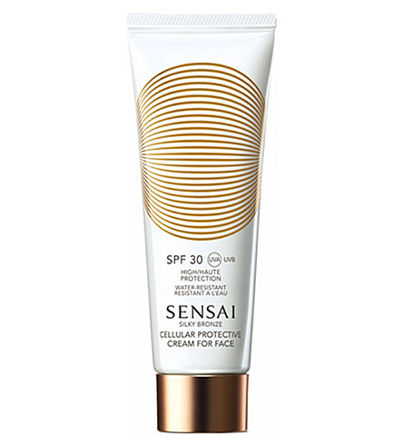 SENSAI BY KANEBO Silky Bronze Cellular protective cream for face SPF 30 50ml