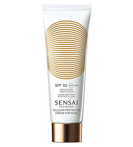 SENSAI BY KANEBO Silky Bronze Cellular protective cream for face SPF 50 50ml
