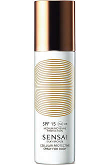 SENSAI BY KANEBO Silky Bronze Cellular protective spray for body SPF 15 150ml