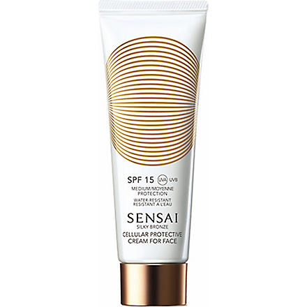 SENSAI BY KANEBO Silky Bronze Cellular protective cream for face SPF 15 50ml