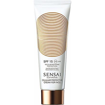 SENSAI BY KANEBO Silky Bronze Cellular protective cream for face SPF 15 50ml