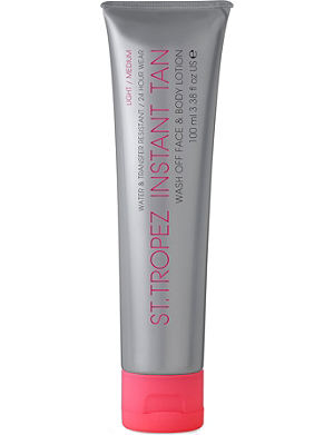 ST. TROPEZ Instant Tan wash-off face and body lotion light/medium