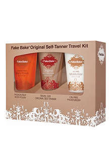 FAKE BAKE Original self-tanner travel kit
