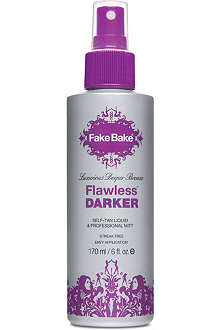 FAKE BAKE Flawless Darker self-tan liquid and professional mitt 170ml