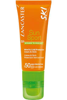 LANCASTER Sun Sport Ski wind & cold protection cream and stick SPF 50 20ml