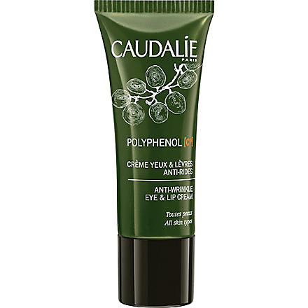 CAUDALIE Polyphenol C15 anti-wrinkle eye & lip cream 15ml