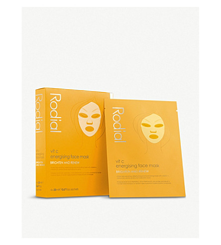 RODIAL Vit C Energising Sheet Mask pack of four