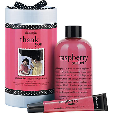 PHILOSOPHY Thank You raspberry sorbet gift set