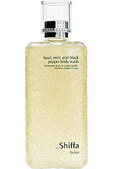 SHIFFA Basil, mint and black pepper body wash