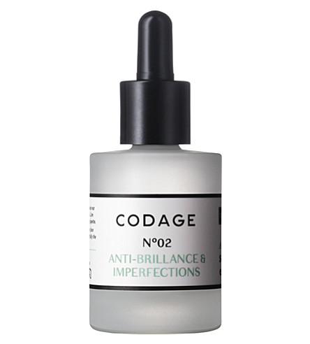 CODAGE Serum N°2 mattifying and repairing