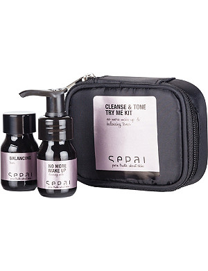 SEPAI Cleanse & Tone try me kit