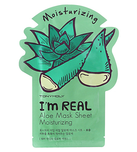 TONY MOLY I'm Real moisturising aloe face mask