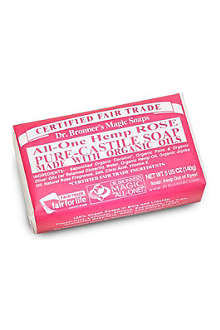 DR. BRONNER Organic Rose soap bar 140g