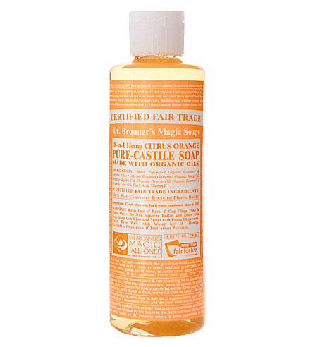 DR. BRONNER Organic Citrus castile liquid soap 237ml
