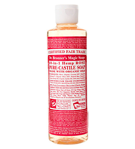 DR.布朗有机玫瑰卡斯蒂利亚液体皂237毫升