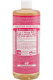 DR. BRONNER Organic Rose castile liquid soap 946ml