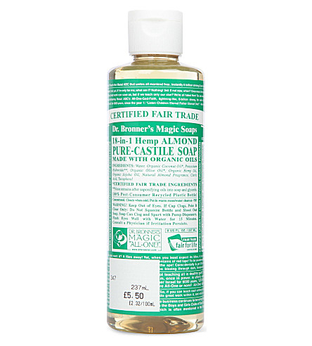 DR. BRONNER Organic Almond castile liquid soap 237ml
