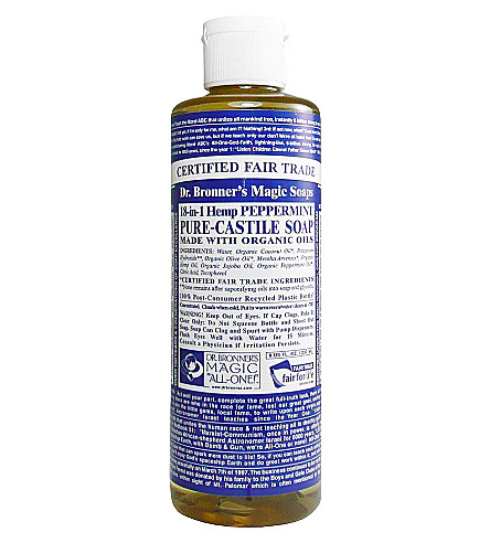 DR. BRONNER Organic Peppermint castile liquid soap 237ml