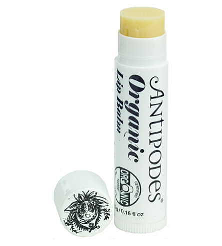 ANTIPODES Organic lip balm with lime leaf and cocoa butter