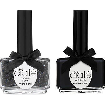 CIATE Caviar Manicure™ kit - Black paint pot (Black+pearl