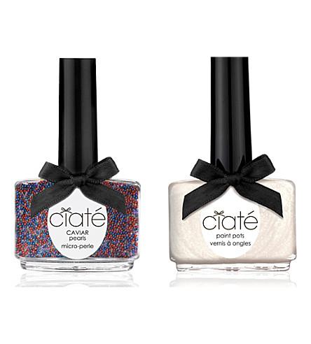 CIATE Caviar Manicure™ kit - Red, White & Blue paint pot