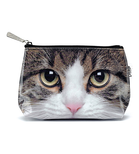 CATSEYE Tabby cat small wash bag