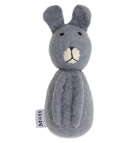MUTTS & HOUNDS Bunny wool dog toy