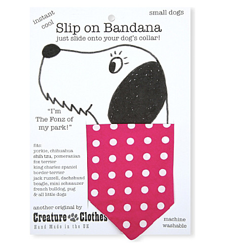 CREATURE CLOTHES Polka-dot slip-on small bandana