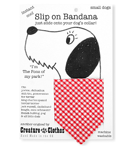 CREATURE CLOTHES Gingham-pattern slip-on small bandana