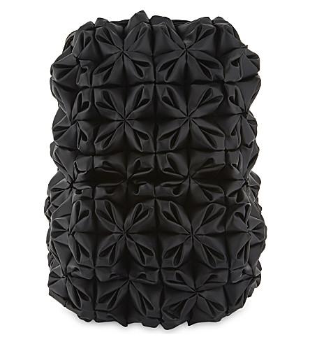 COMME DES GARCONS Floral leather backpack (Black