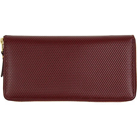 COMME DES GARCONS Leather wallet (Burgundy